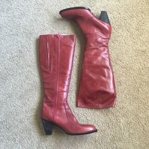 Briarwood Genuine Red Leather High Heel Boots NZ